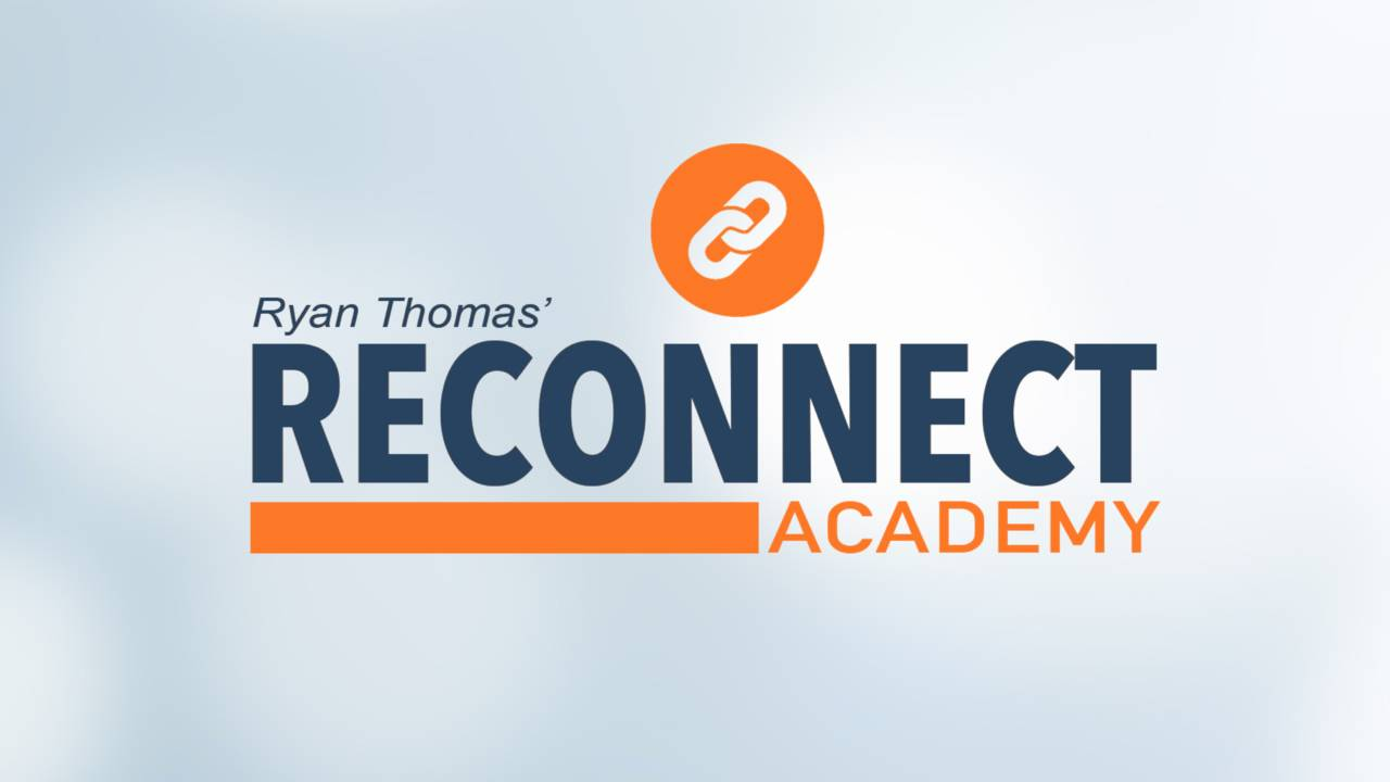 reconnect academy logo blue